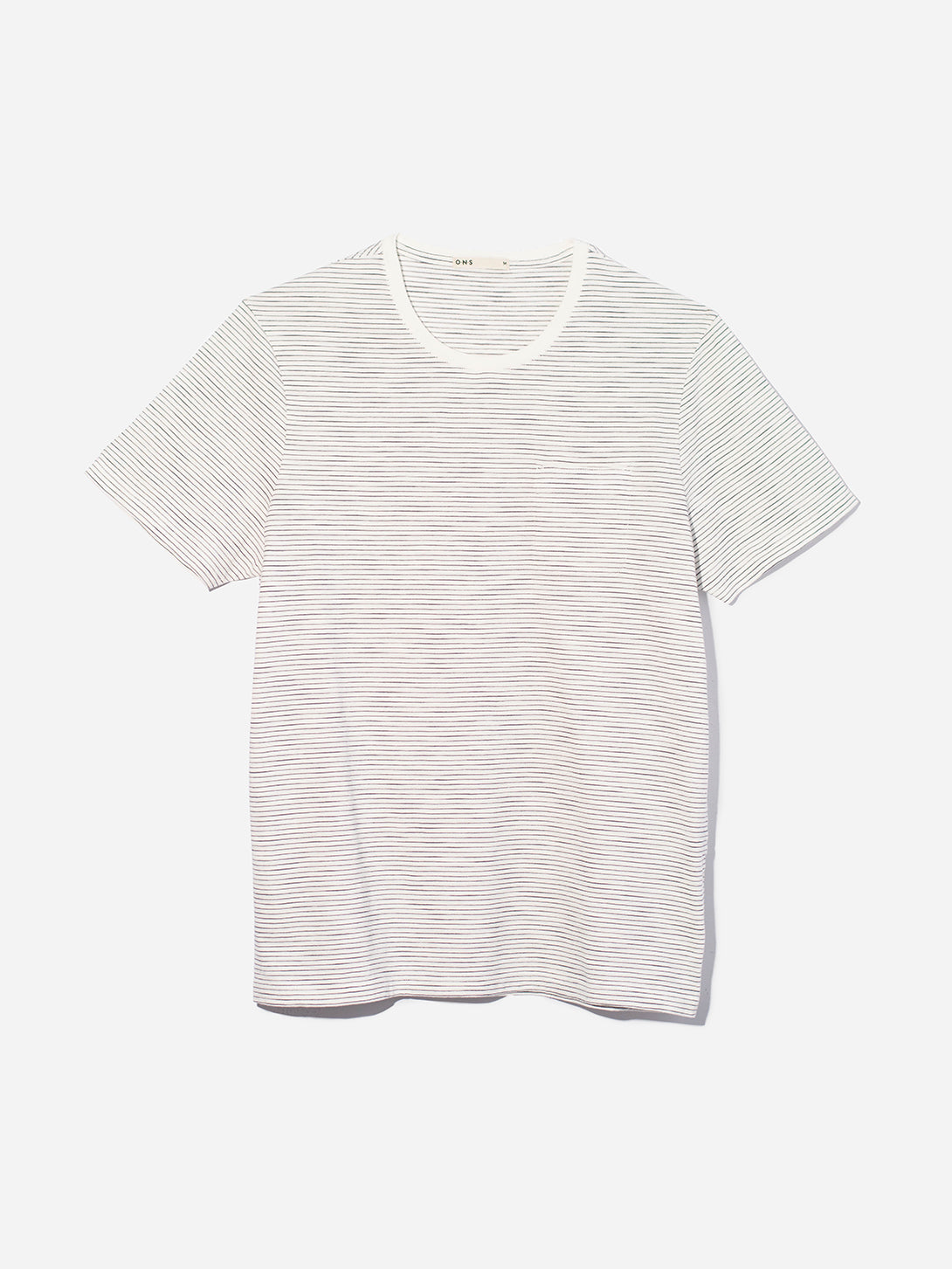 WHITE t shirts for men bowery stripe pocket tee ons clothing