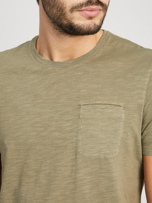 OLIVE GREEN t shirts for men bowery pocket tee ons clothing