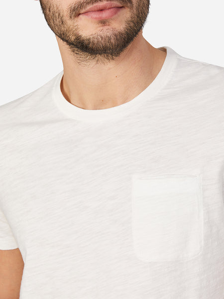 WHITE t shirts for men bowery pocket tee ons clothing