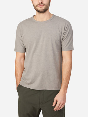 GRAY short sleeve t-shirt for men reno crew neck tee by ons clothing