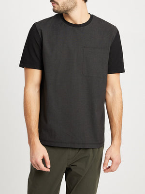 JET BLACK t shirts for men niland pocket tee ons clothing