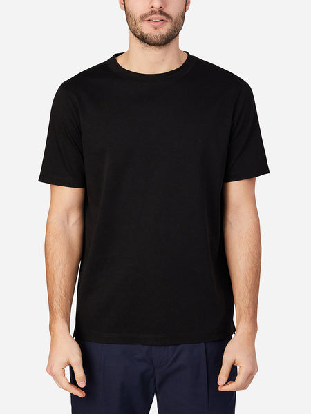 JET BLACK short sleeve t-shirt for men landis crew neck tee by ons clothing