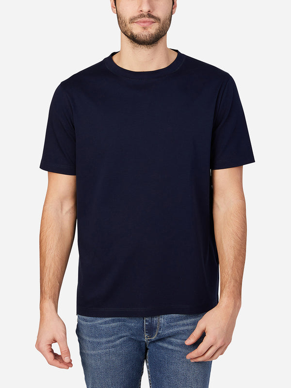 NAVY short sleeve t-shirt for men landis crew neck tee by ons clothing