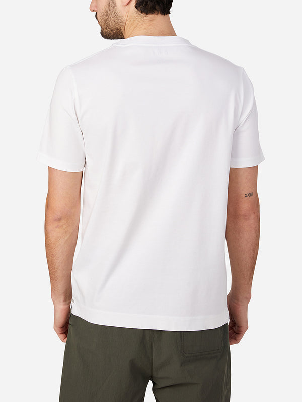 WHITE short sleeve t-shirt for men landis crew neck tee by ons clothing
