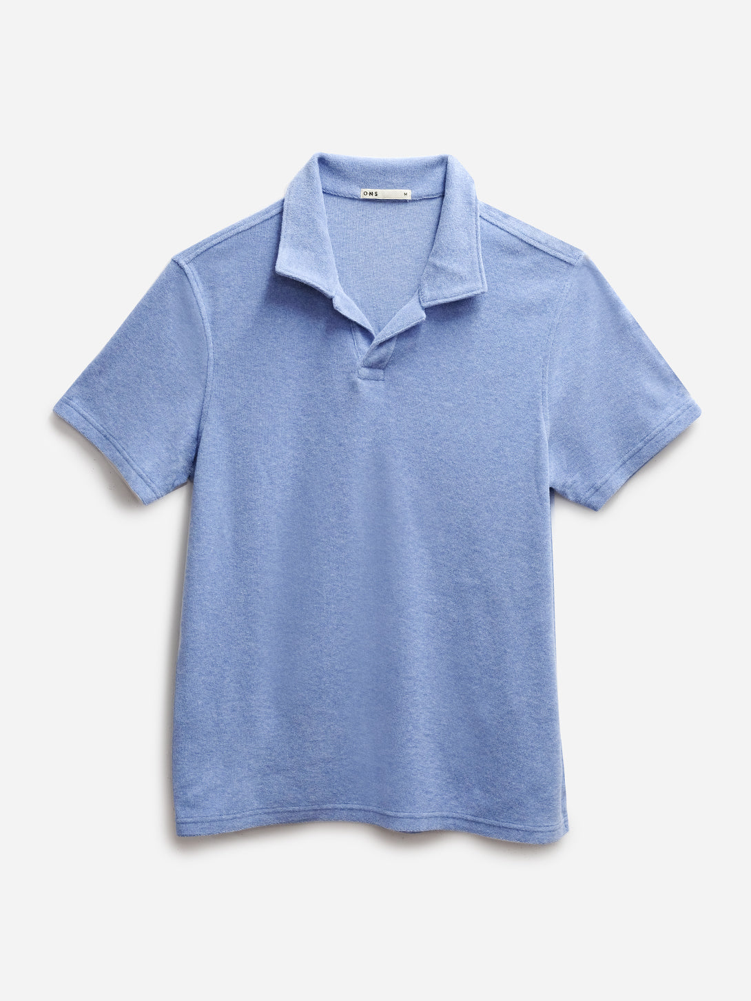 BLUE REVERSE TERRY POLO ONS MENS KNITS