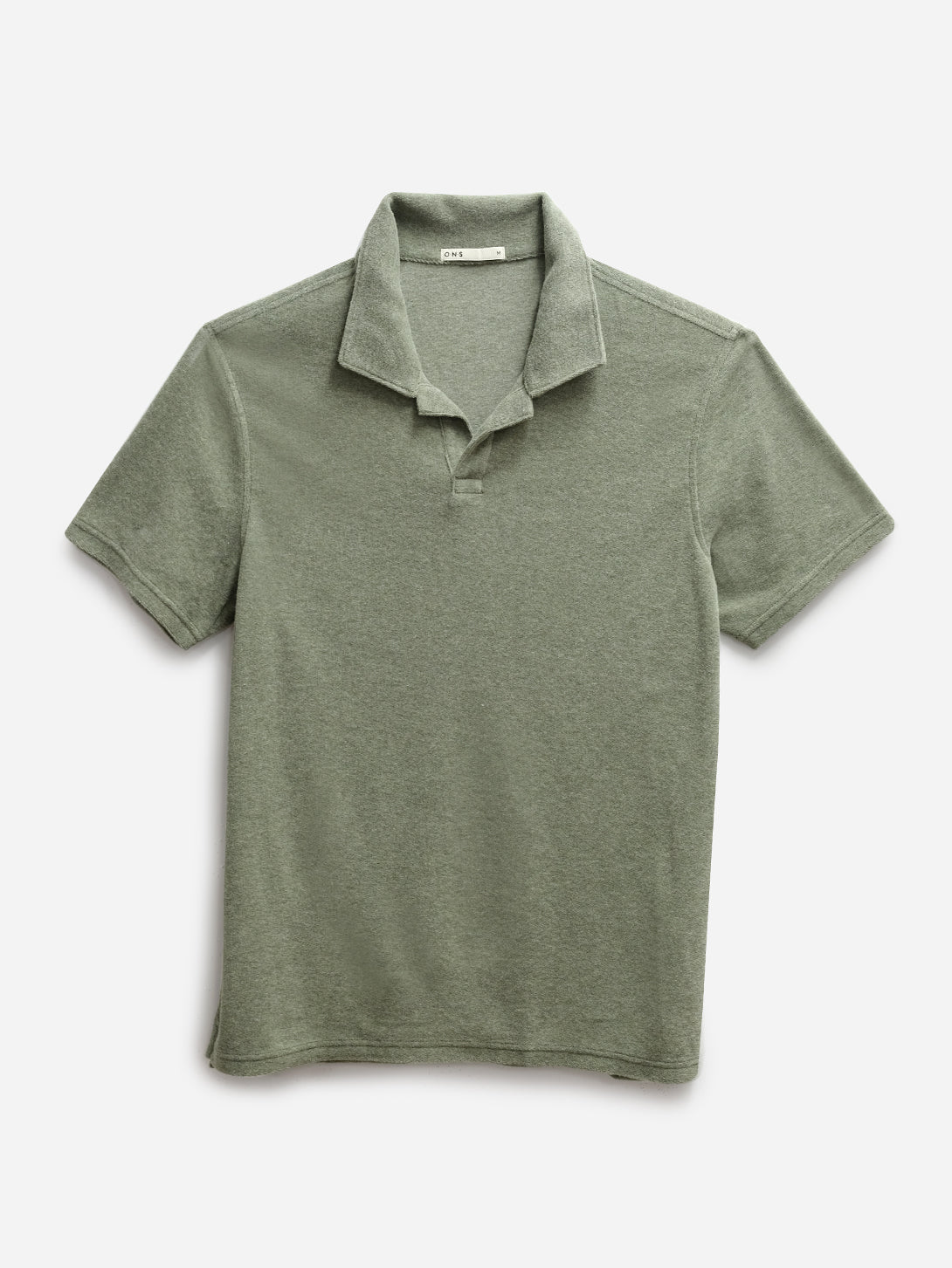 GREEN REVERSE TERRY POLO ONS MENS KNITS