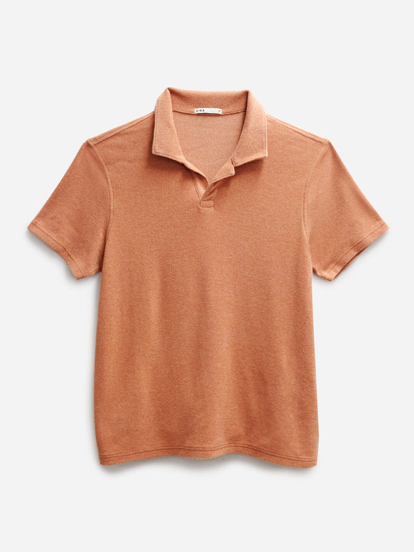 ORANGE REVERSE TERRY POLO ONS MENS KNITS