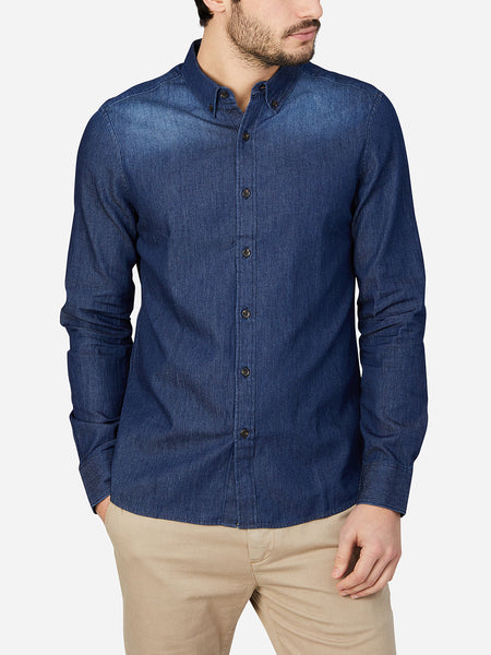 DARK BLUE oxford shirt mens dress shirts adrian denim oxford shirt ons clothing