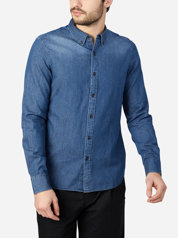 INDIGO BLUE oxford shirt mens dress shirts adrian denim oxford shirt ons clothing