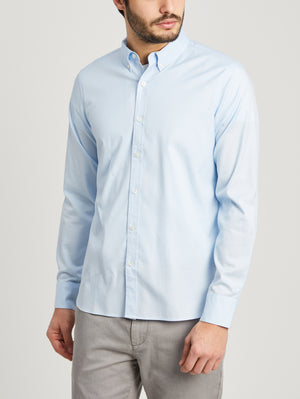 LIGHT BLUE button down shirt for men fulton pinpoint oxford shirt ons clothing