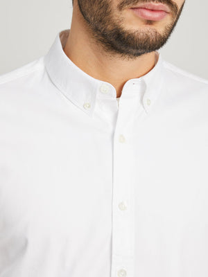WHITE button down shirt for men fulton pinpoint oxford shirt ons clothing