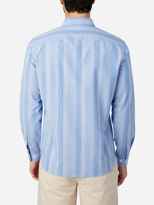 LIGHT BLUE STRIPE fulton button down shirt by ons clothing'