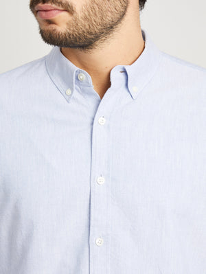 HEATHER BLUE button down shirt for men fulton heather oxford shirt ons clothing