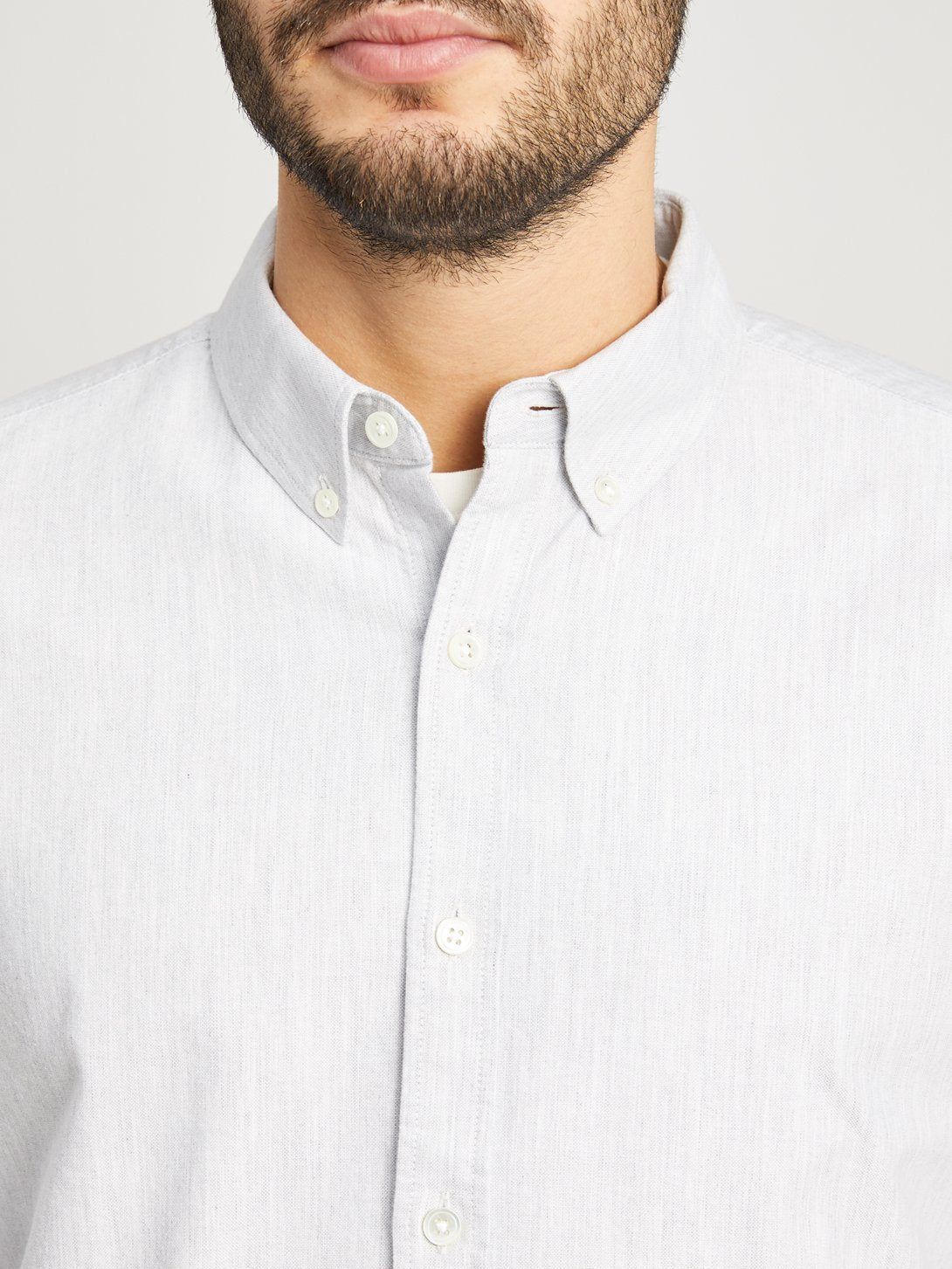 Heather Grey button down shirt for men fulton heather oxford shirt ons clothing