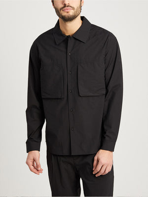 JET BLACK button down shirt for men corsa shirt jacket ons clothing