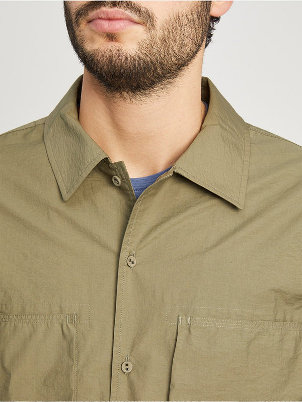 OLIVE GREEN button down shirt for men corsa shirt jacket ons clothing