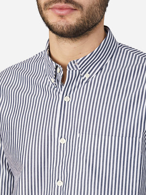 NAVY STRIPE button down shirt for men vance stripe shirt ons clothing