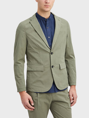 Seagrass Green Conduit Packable Blazer Men's cotton blazers ONS Clothing