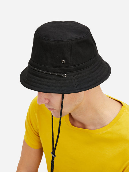 Black Sherwood Bucket Hat Men's denim accessories ONS Clothing