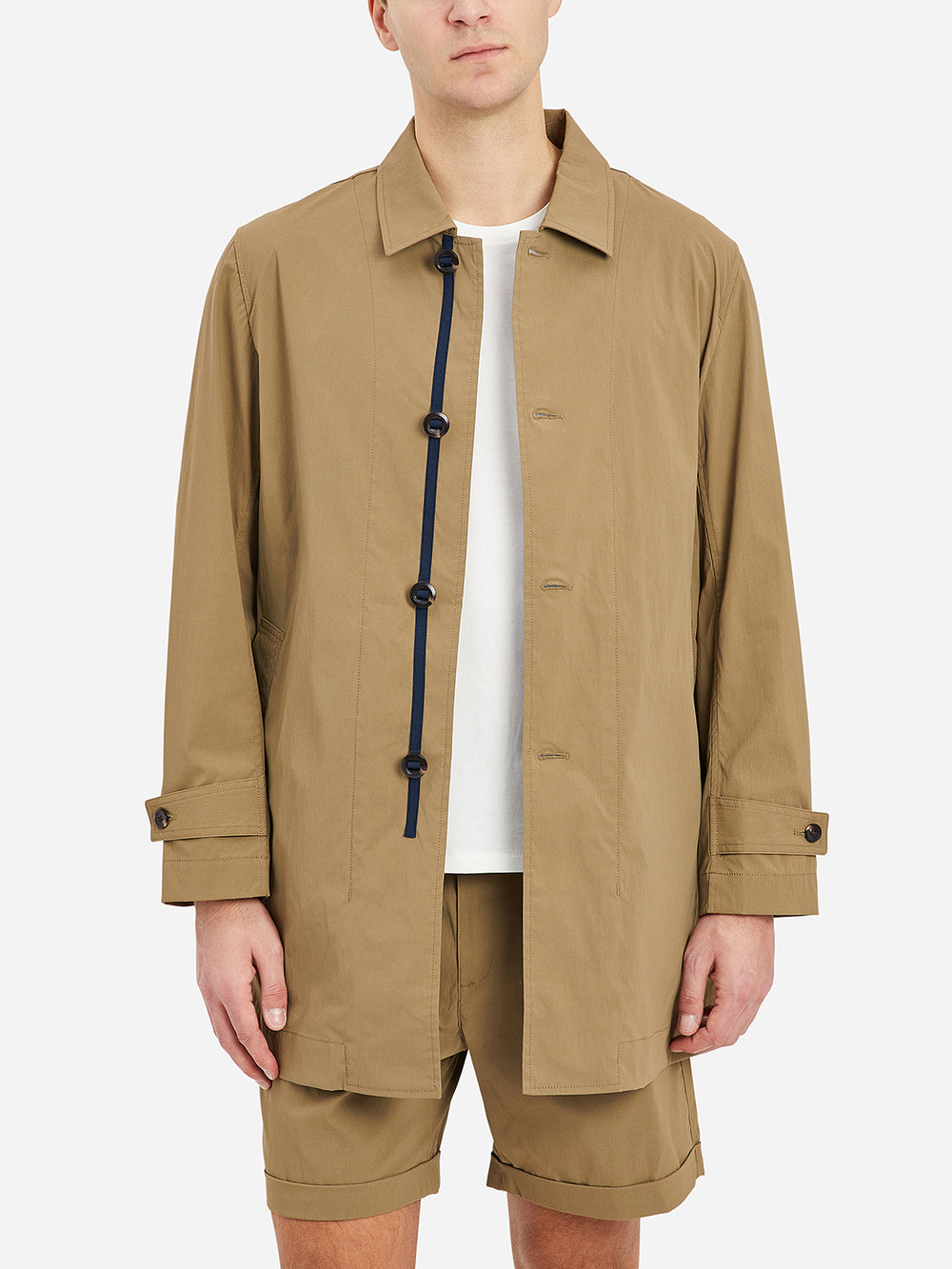 Khaki Marion Trench Men's cotton nylon coats ONS Clothing