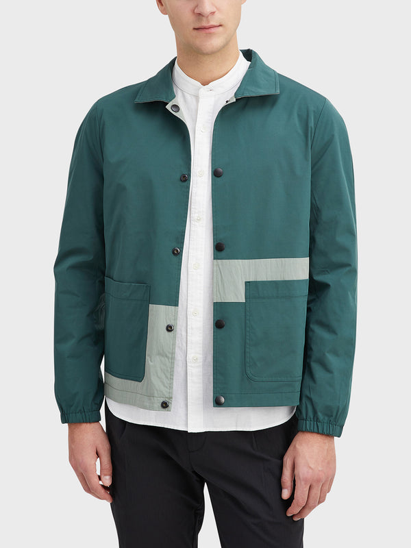 Seagrass Green Hawthorne Reversible Jacket Men's cotton jackets ONS Clothing