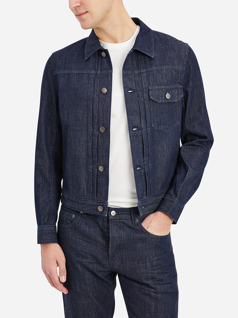 Dark Indigo Tripp Denim Trucker Jacket Men's cotton jackets ONS Clothing
