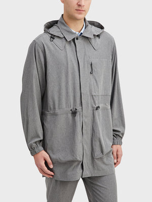 Gray Heather Mariner Parka Men's polyester jackets ONS Clothing