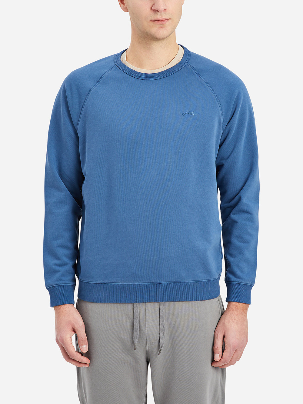 Ensign Blue Deon Crewneck Raglan Sweatshirt Men's cotton sweatshirts ONS Clothing