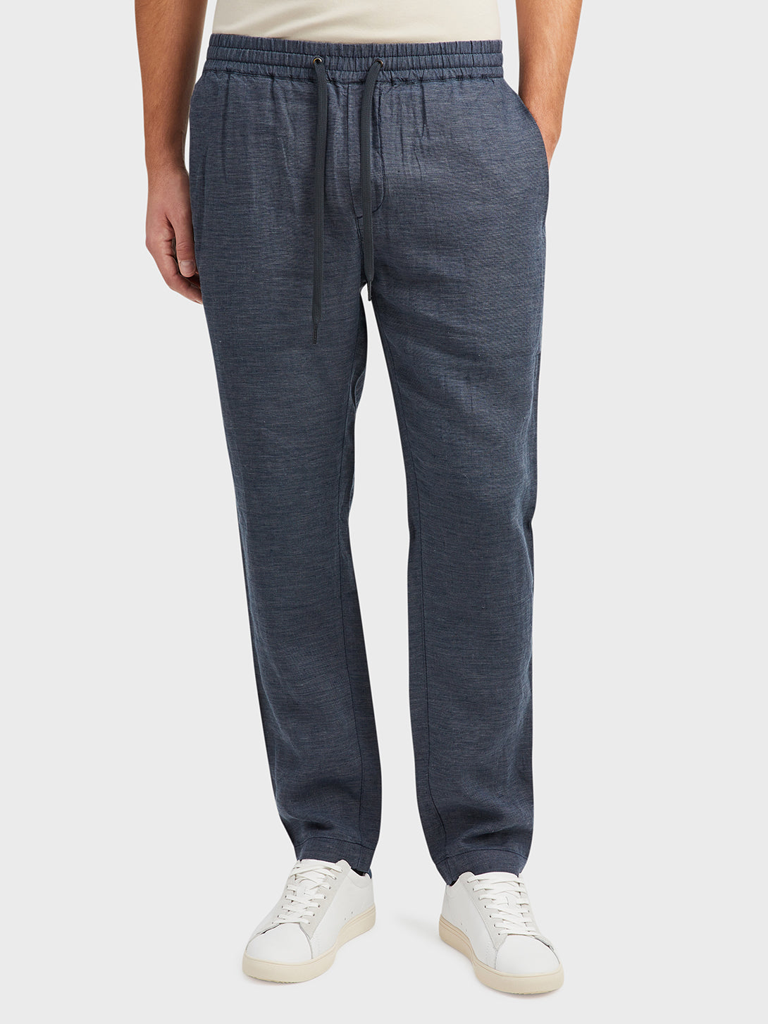 Navy Modern Linen Pants Men's linen pants ONS Clothing