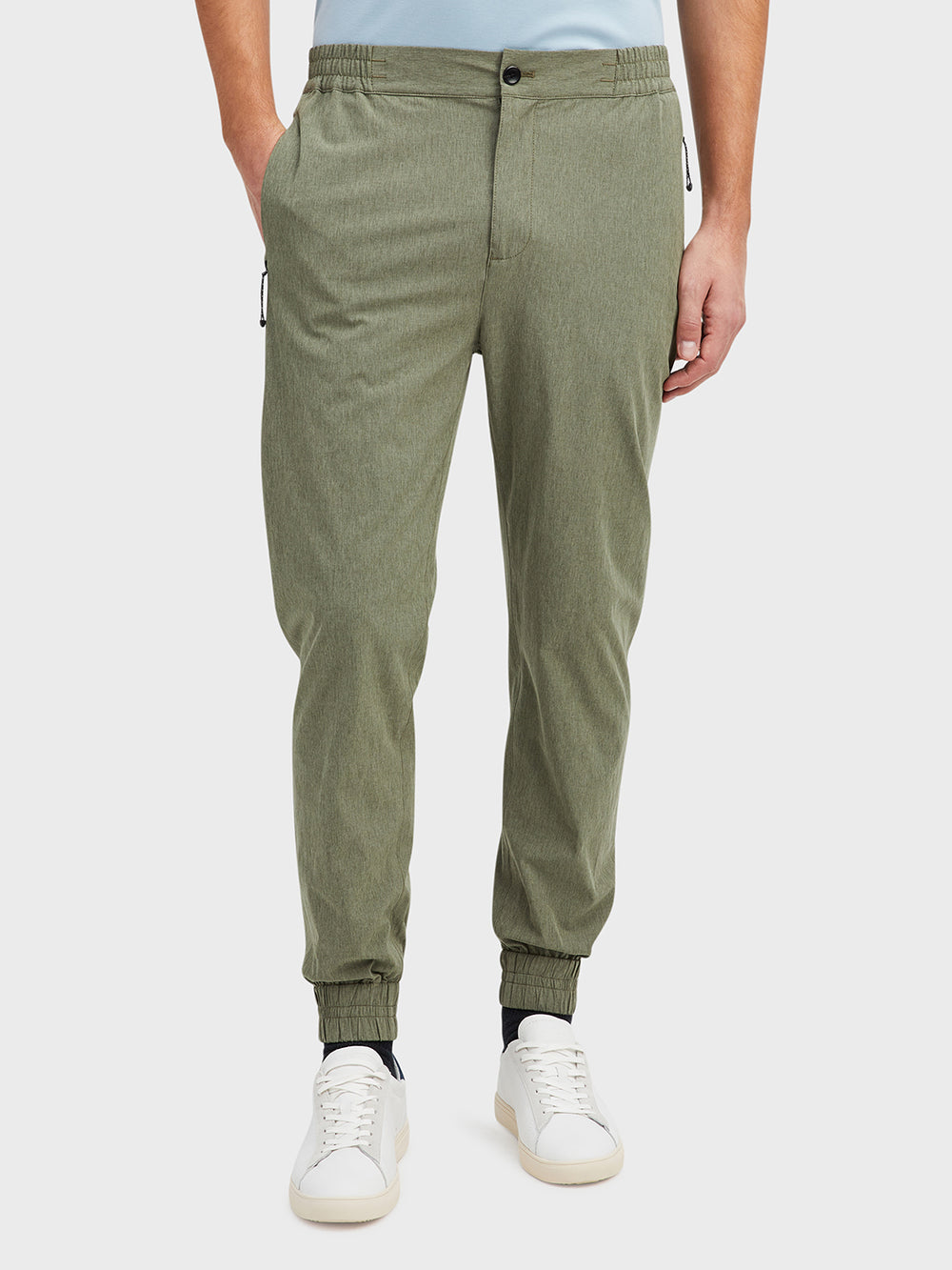 Green Heather Rockland Jogger Pants Men's polyester pants ONS Clothing
