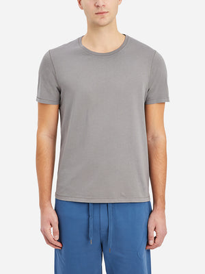 Charcoal Village Crew Neck Tee Men's supima cotton tees ONS Clothing