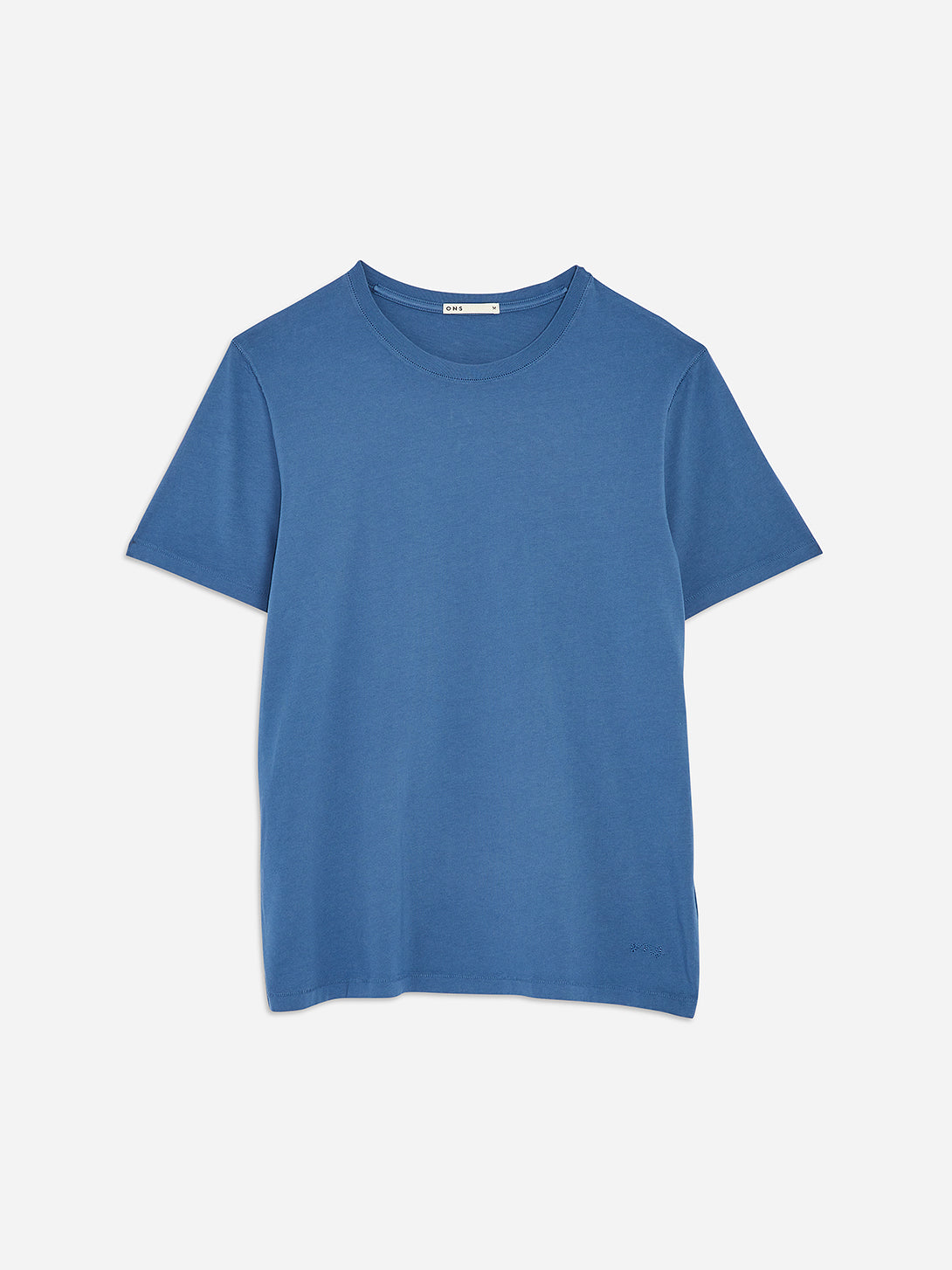 Ensign Blue Village Crew Neck Tee Men's supima cotton tees ONS Clothing