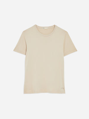 Light Taupe Village Crew Neck Tee Men's supima cotton tees ONS Clothing