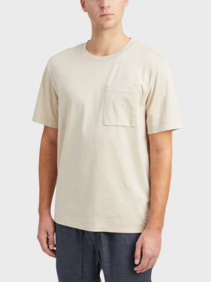 Oyster Gray Baseile Pocket Tee Men's cotton t-shirts ONS Clothing