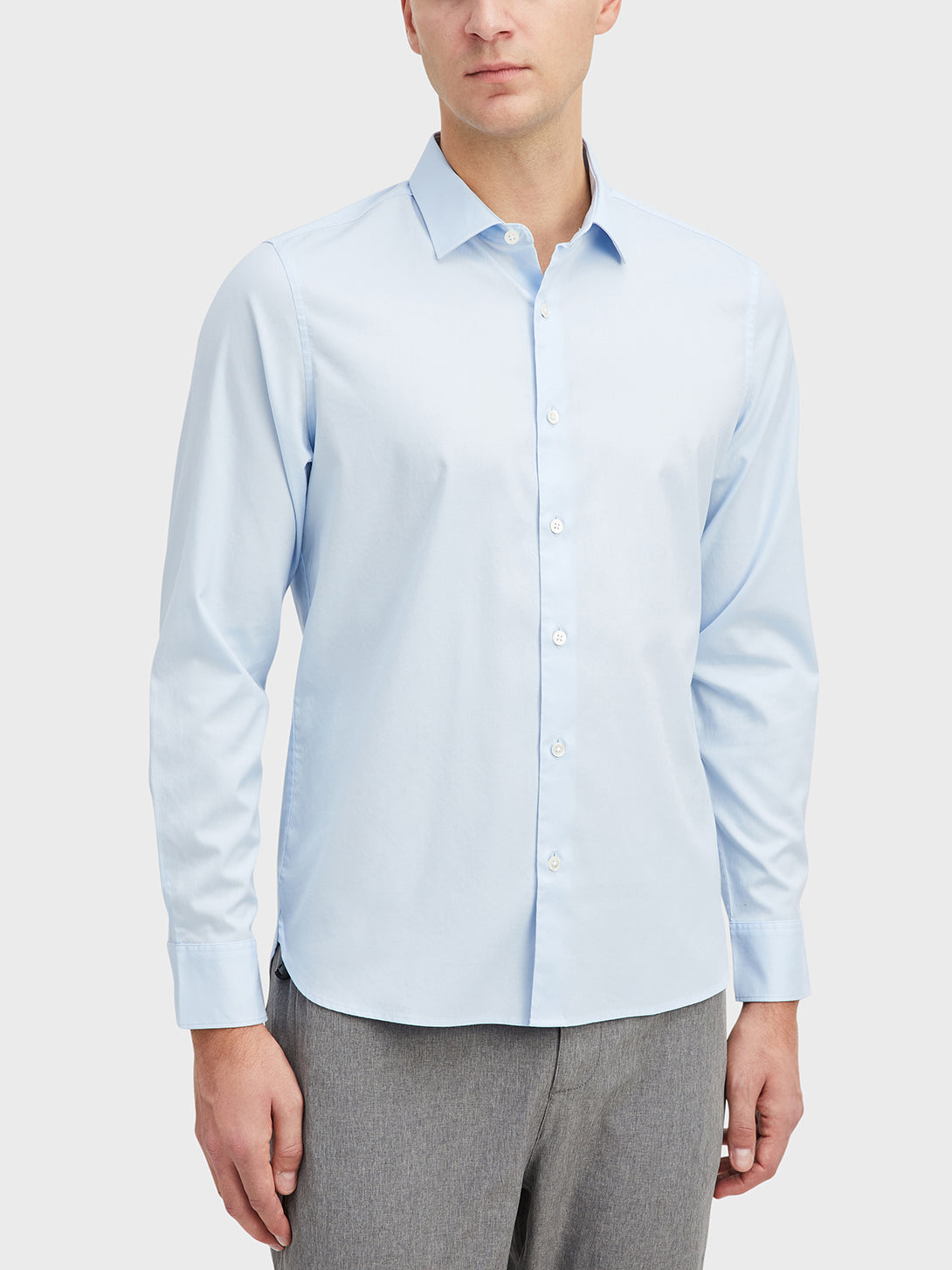 Light Blue Adrian Pinpoint Oxford Shirt Men's cotton shirts ONS Clothing