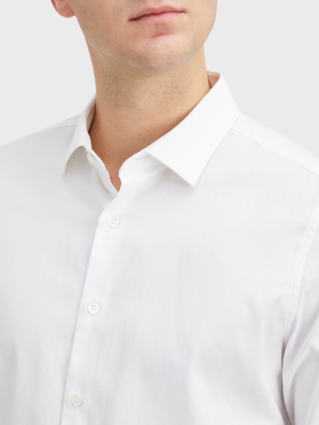 White Adrian Pinpoint Oxford Shirt Men's cotton shirts ONS Clothing