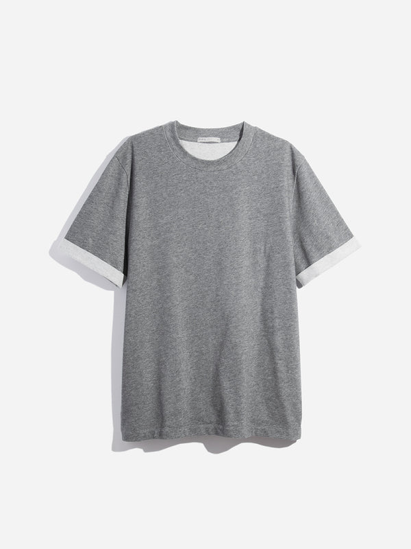DARK HEATHER GREY short sleeve crew neck t shirt archer tee light heather grey