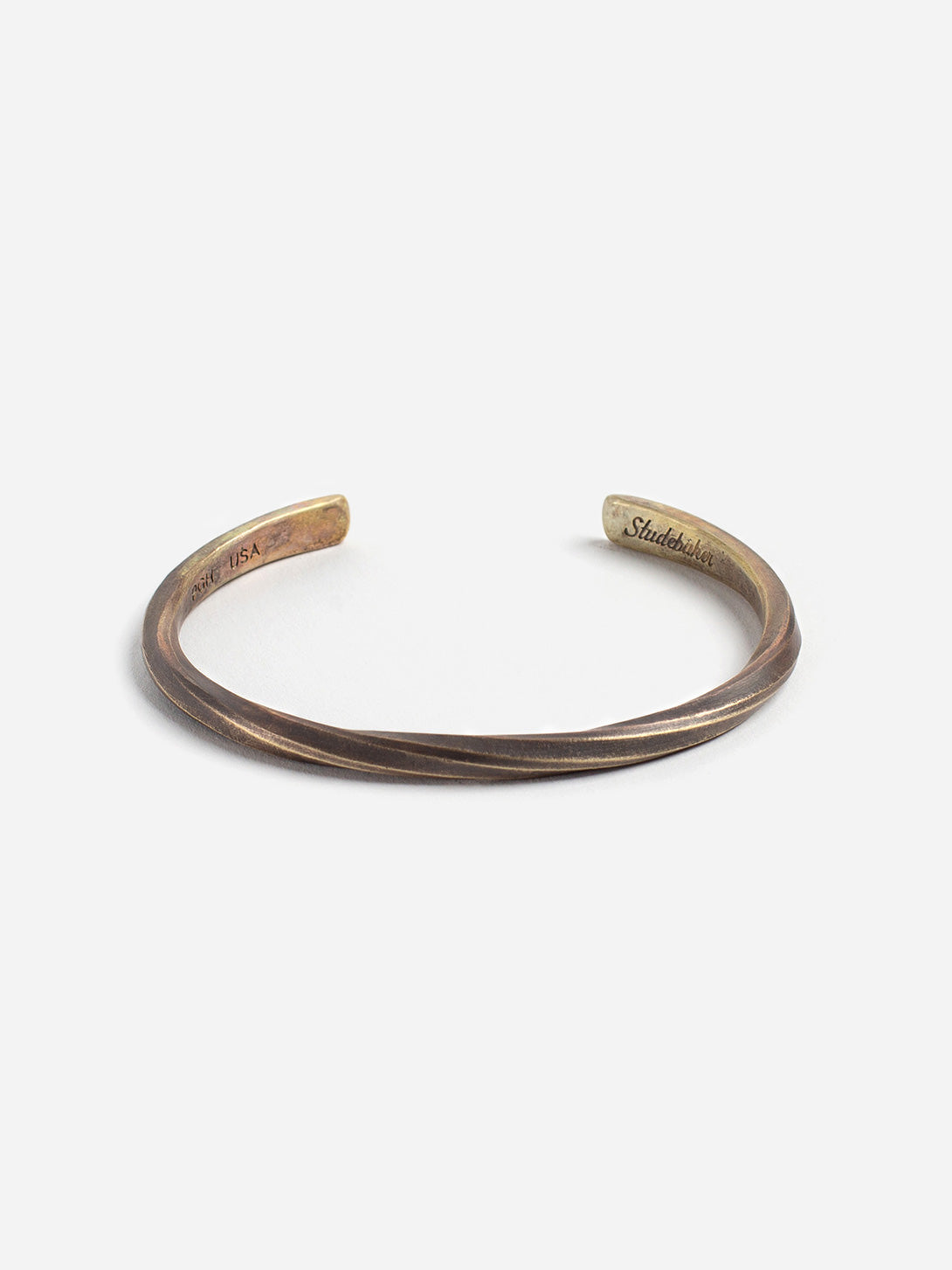 BRASS - PATINA cuff for men and women by Studebaker Metals