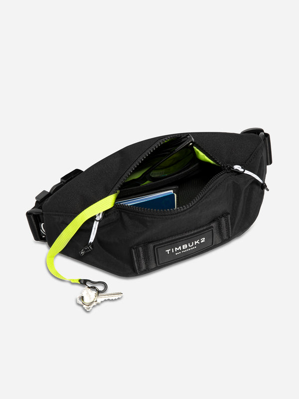 JET BLACK SLACKER CHEST PACK TIMBUK2 WAISTBAG