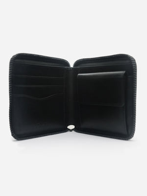 BLACK ZIPPER WALLET