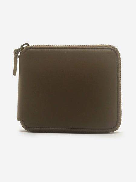 ONS KHAKI ZIPPER Leather WALLET