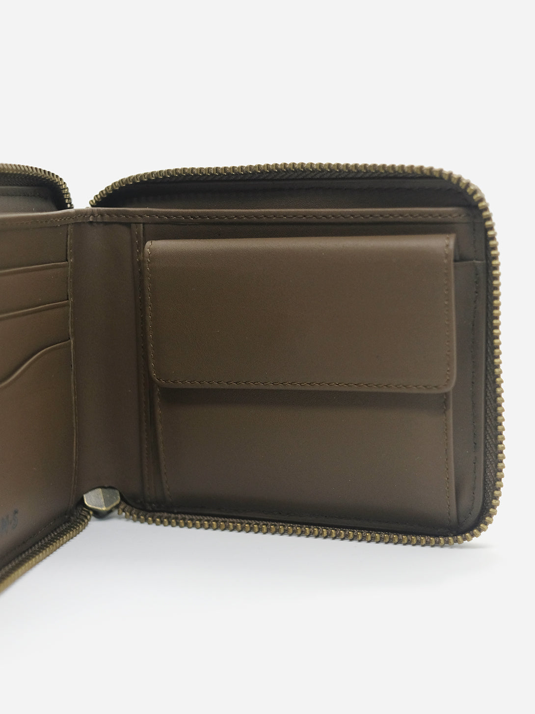 KHAKI ZIPPER WALLET