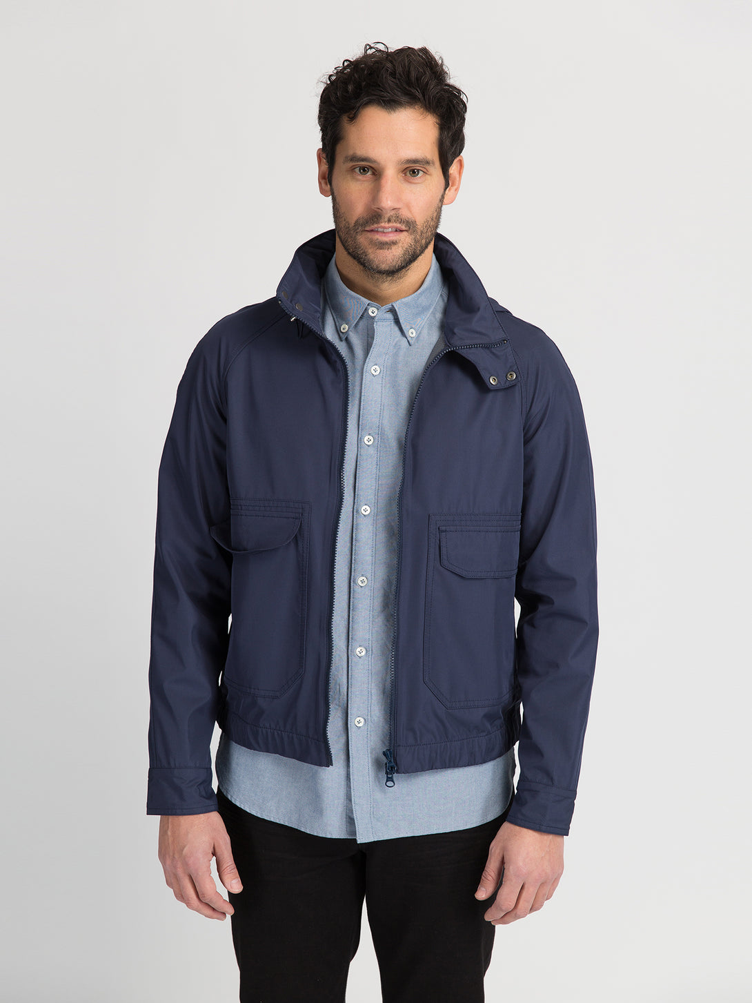 ons garage men's jacket navy