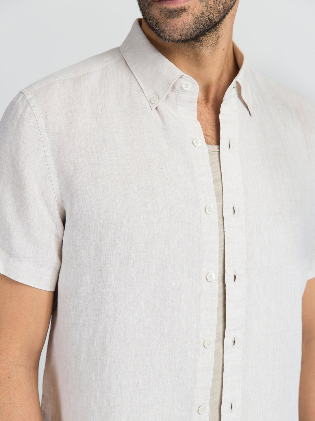 ons garage men's shirt SAND