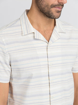 ons garage men's shirt GREY STRIPE
