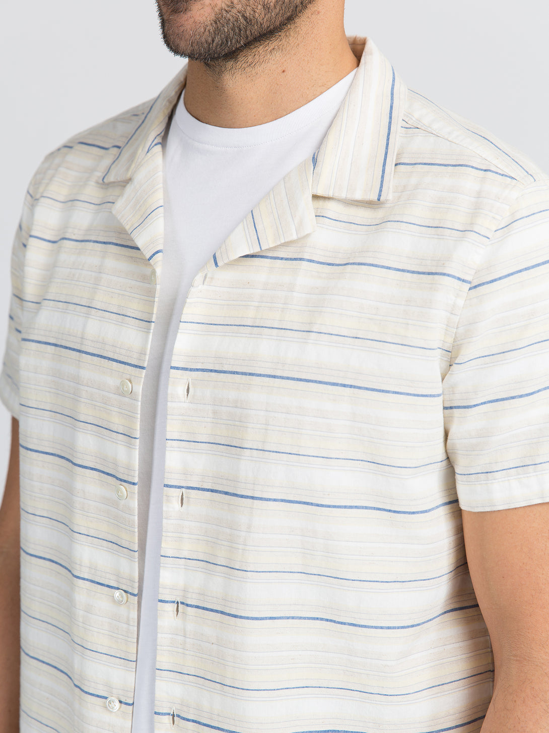 ons garage men's shirt BLUE STRIPE