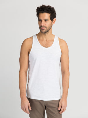 ons men's garage tank tee WHITE