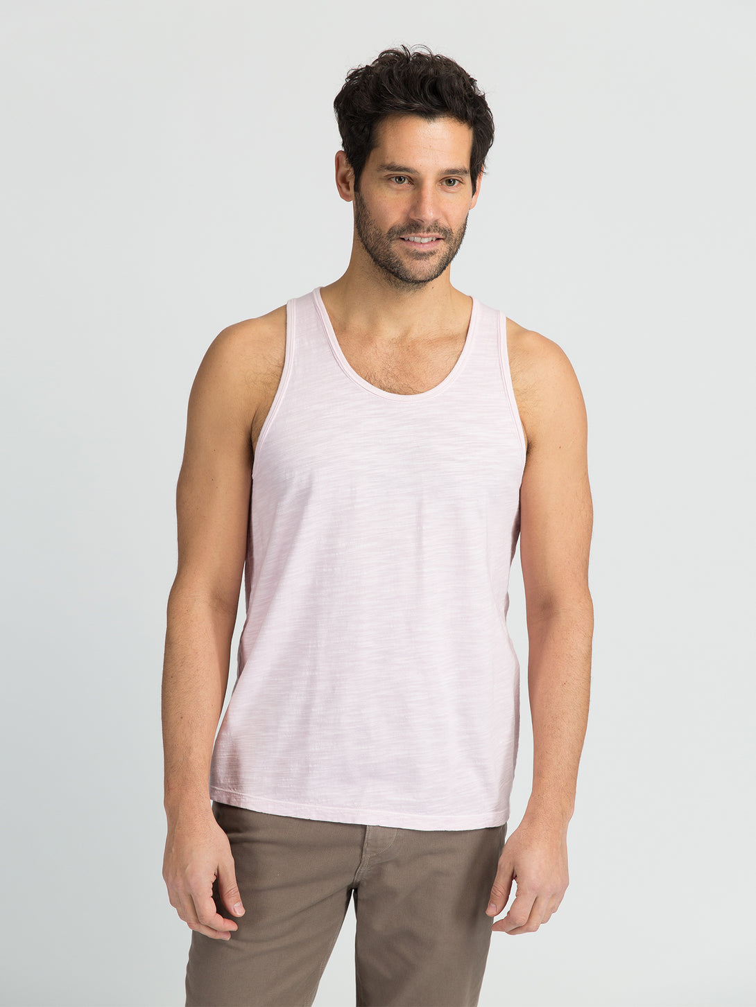 ons men's garage tank tee LIGHT LILAC
