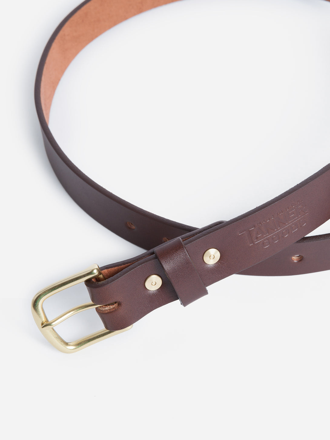 cognac Tanner Goods Belt