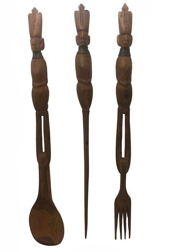 African Salad Servers